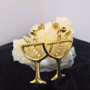 Avon Jewelry - Avon 1997 New Year's Eve Dangle Earrings